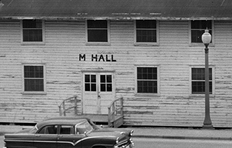 M Hall on the UT campus during the 1940s