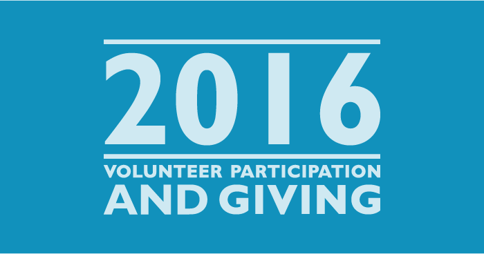 2016 Volunteer Participation and  Giving