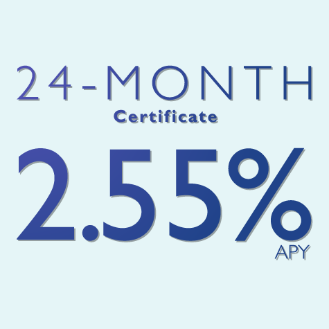 24 Month CD: 2.55% APY